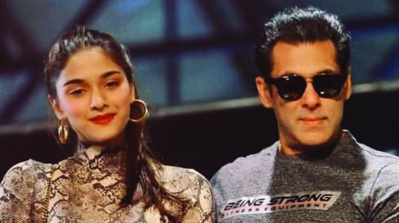 Salman Khan and Sai Manjrekar