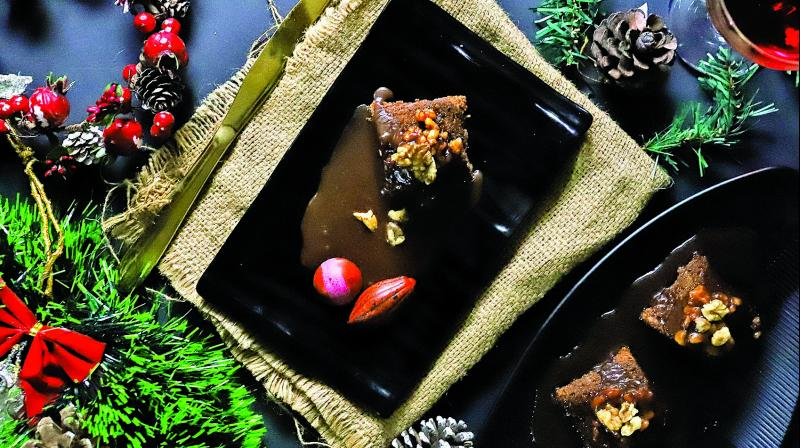 Gingerbread Pudding with Sticky toffee