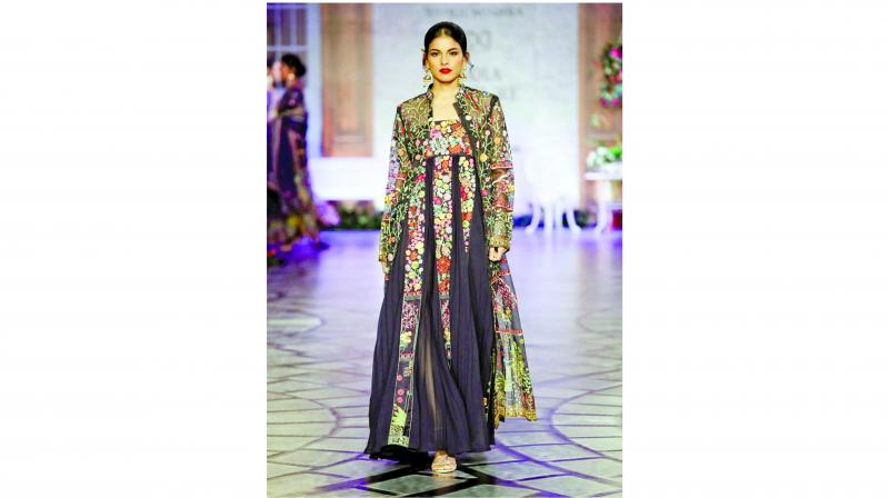 Designer Rahul Mishra's outfit inspired by vintage paintings