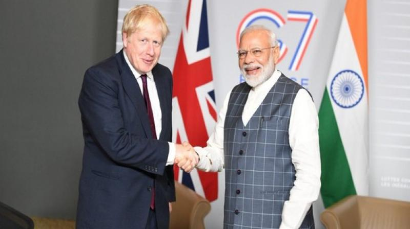 Prime Minister Narendra Modi on Friday congratulated his British counterpart Boris Johnson on his Conservative Party's victory in the 2019 general elections and said that he looks forward to working with him for closer India-UK ties. (Photo: File)