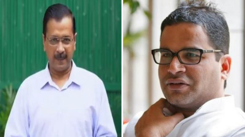 In the run up to the Delhi assembly elections early next year, Chief Minister and Aam Aadmi Party convenor Arvind Kejriwal on Saturday announced that Prashant Kishor-led political consultancy firm I-PAC has come on board with the party. (Photo: ANI)
