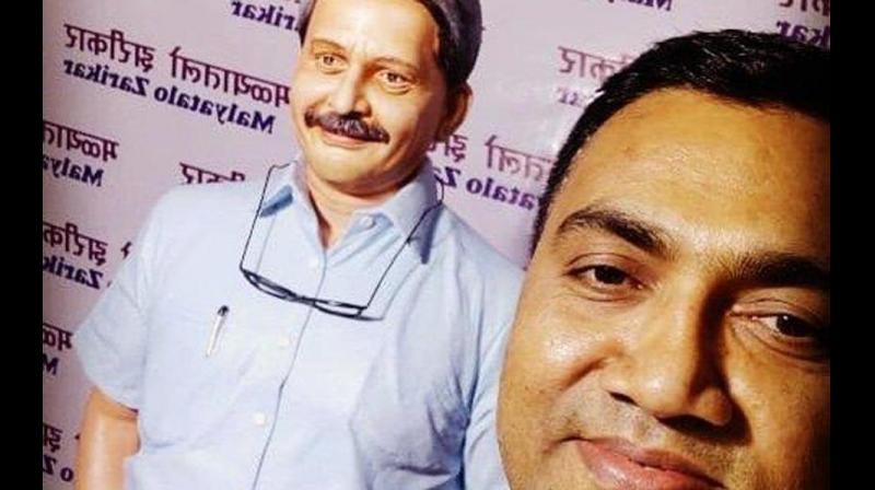 """Goa Chief Minister Pramod Sawant on Friday said late Manohar Parrikar had transferred his """"josh"""" (spirit) to him, and this allowed him to work for """"15- 16 hours a day"""" after taking over the coastal state's top post. (Photo: Twitter/ @DrPramodPSawant)"""