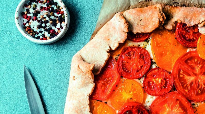 Tomato and Feta tart (Serves 4)
