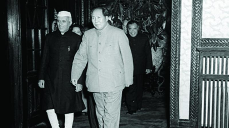Prime Minister Jawaharlal Nehru and Chairman Mao Zedong in Beijing