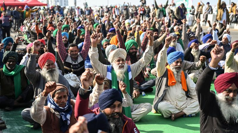 The court is likely to pronounce orders on Tuesday on issues related to the farm laws and the farmers' protests at Delhi's borders and may take a call on setting up a committee headed by a former Chief Justice of India to find ways to resolve the impasse. (Photo:AFP)