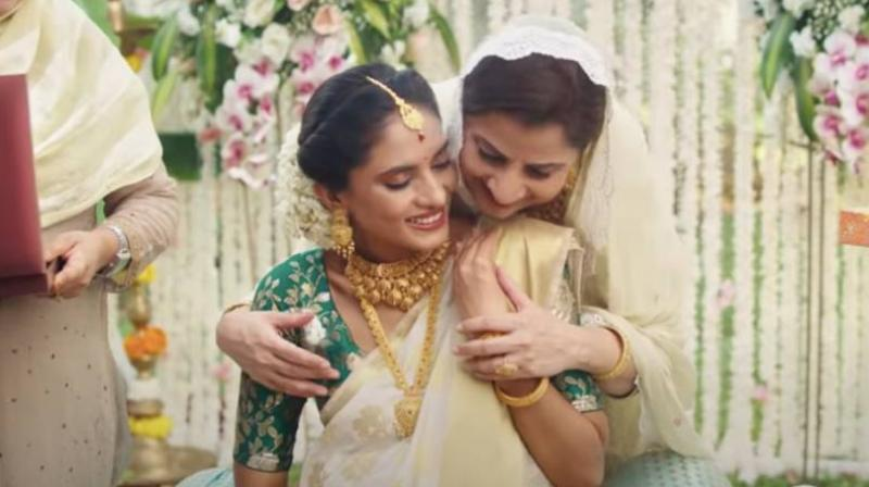 Videograb from the controversial Tanishq ad.