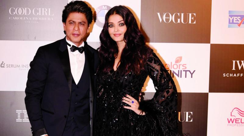 Shah Rukh Khan and and Aishwarya Rai Bachchan