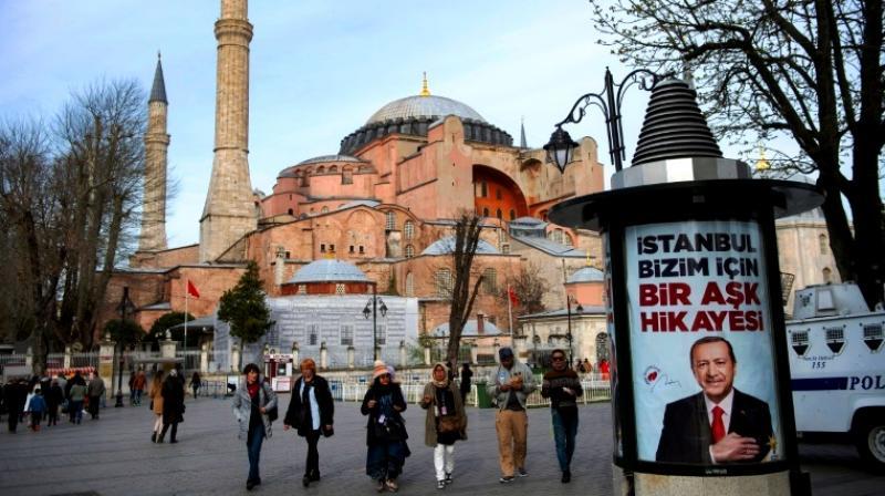 Turkish President Recep Tayyip Erdogan said the Hagia Sophia will