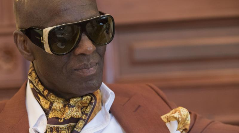 In this Thursday, July 19, 2018 photo, designer Dapper Dan is seen during an interview at his atelier in the Harlem neighborhood of New York. (Photo: AP)