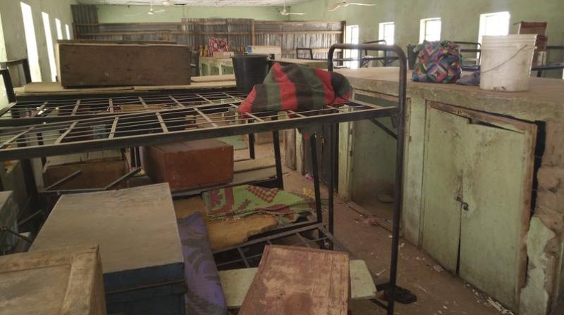 Luggage belonging to the kidnapped girls remain in the dormitory in the Government Girls Science and Technical College Dapchi, Nigeria. Boko Haram militants have returned unknown number of the 110 girls abducted from their Nigeria boarding school a month ago with an ominous warning, witnesses said on Wednesday. (AP Photo | Jossy Ola)