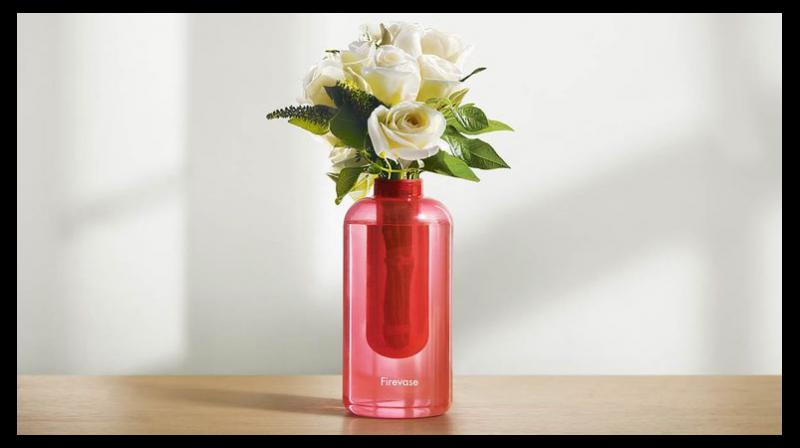 Developed by South Korean ad agency Cheil Worldwide, a subsidiary of Samsung Group, the vase contains liquid potassium carbonate, which blocks oxygen, ultimately suppressing a fire. (Photo: Samsung)