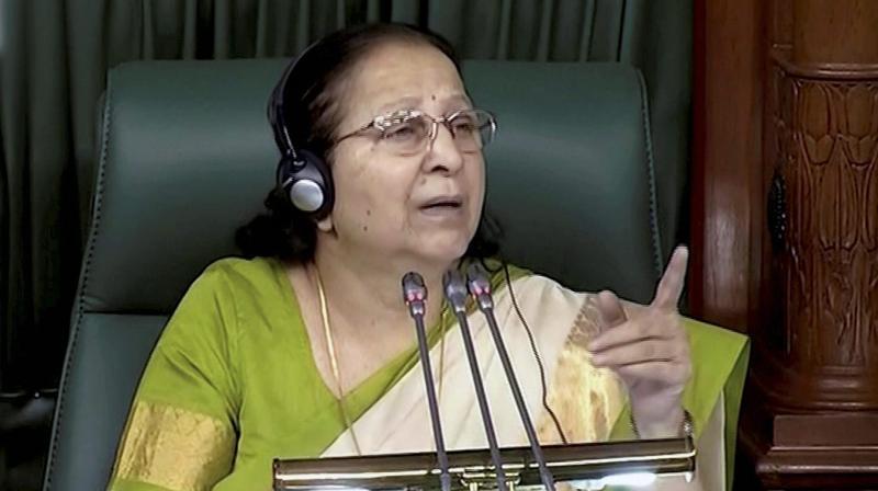 Lok Sabha Speaker Sumitra Mahajan (Photo: PTI)