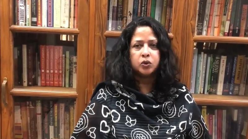 Sharmistha Mukherjee, daughter of the late Pranab Mukherjee. (Twitter/@Sharmistha_GK)