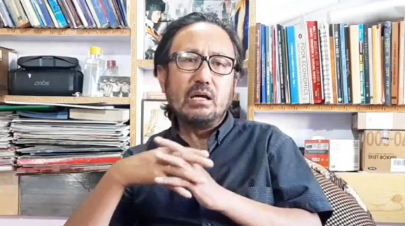 Video grab of a video posted by Tsewang Rigzin, editor of the State Timesnewspaper of Leh. (Photo: Facebook/Ladakh In The Media.