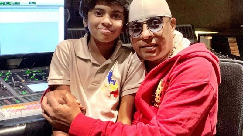 Legendary percussionist Sivamani with the lead star of Atkan Chatkan, Lydian Nadhaswaram. (Photo: Twitter/@drumssivamani)
