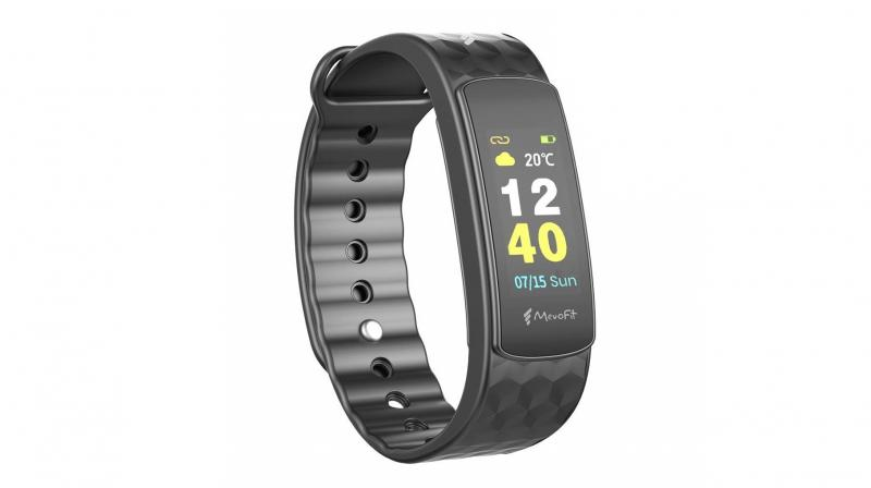 The activity tracker records essential fitness parameters such as steps taken, distance covered, and calories burned.