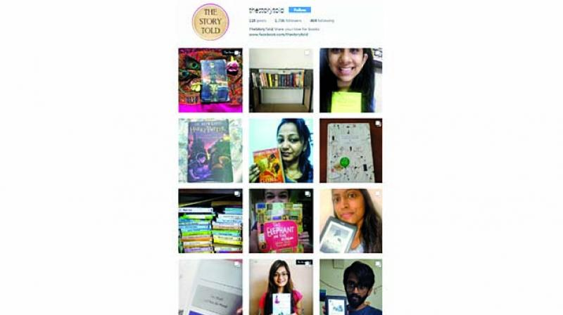 People like to share photos of their bookshelf and narrate the stories behind it.