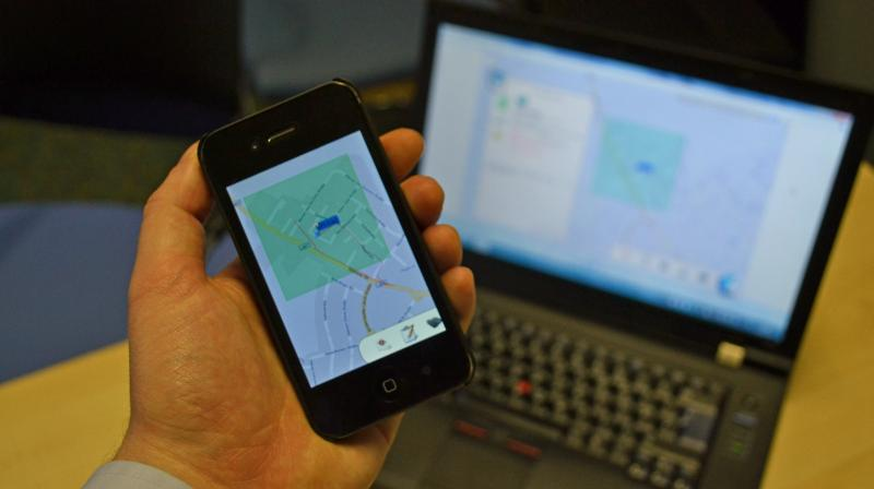 This representative image shows a person monitoring a geofenced area (Photo   Flickr)
