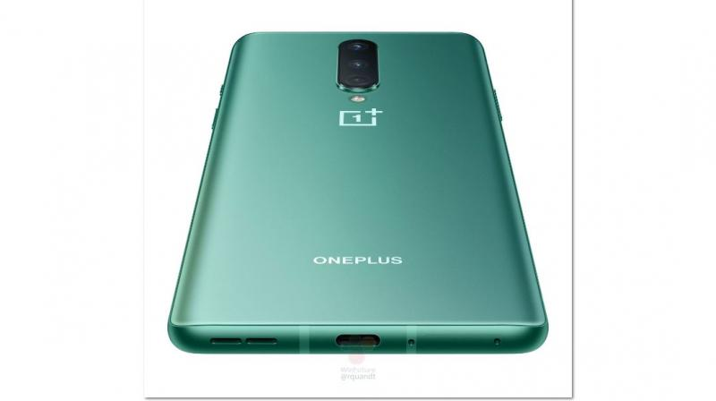 OnePlus 8 in the green colour variant (Photo | Winfuture.com)