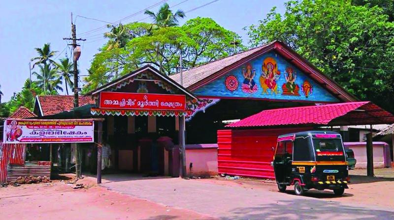 The temple is believed to be older than over 100 years and is maintained by Ammachiveedu family