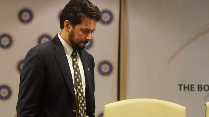 On December 15 last year, the Supreme Court had observed Anurag Thakur prima facie appears to have committed matter of perjury in relation to demanding an intervention via a letter from the International Cricket Council (ICC) in order to sidestep the implementation of the Lodha committee recommendations. (Photo: AP)