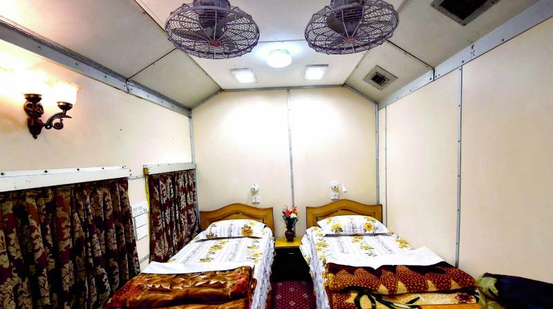 The first private saloon tour, which departed from Old Delhi Railway Station on Friday attached to the Jammu Mail. It has two AC bedrooms, attached bath and even a valet service. (Photo: PTI )