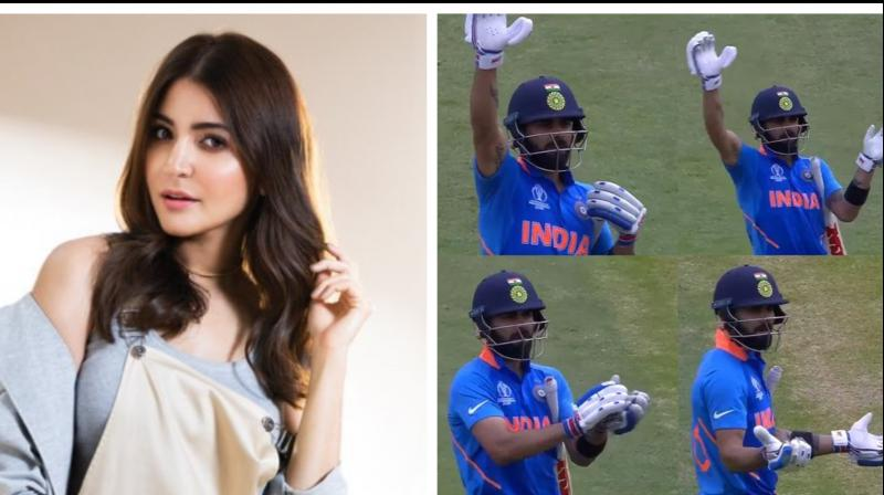 Virat's gesture melted the hearts of his fans, including his wife Anushka. Following Kohli's gestures, the Ae Dil Hai Mushkil Actor shared the good news on her Instagram story. (Photo: Twitter)