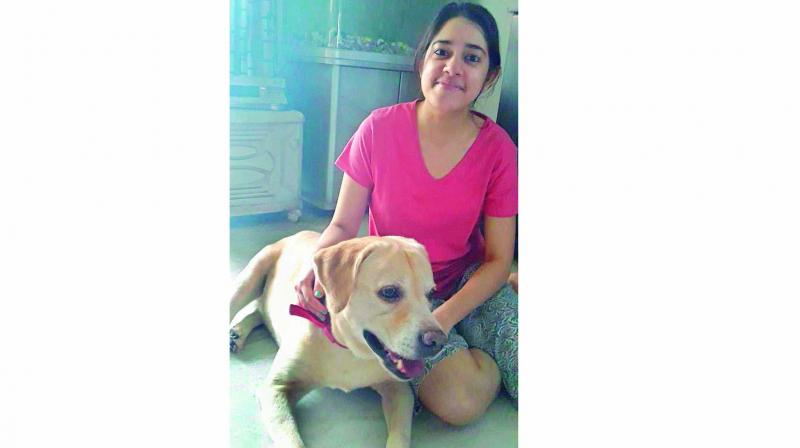 Brinda Sanyal, student, believes her dog helped cure her depression and reduced her anxiety