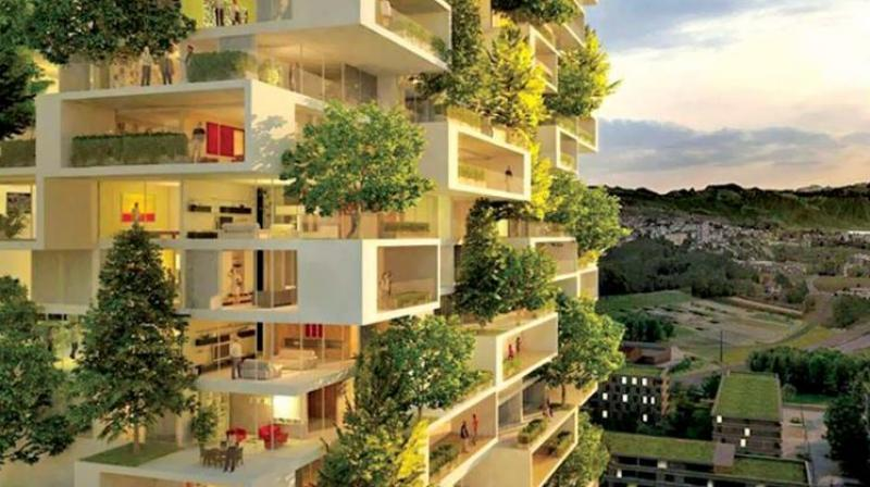 Green homes. A file photograph used for representative purposes only