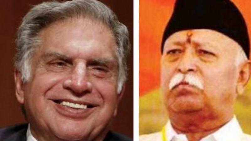 Bhagwat who spoke at length on number of issues said Mr Tata's is humble in nature and 'those who work a lot speak less'.