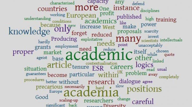 What we see in Europe is a shortage of proper academic positions, and an increase of precarious academic positions
