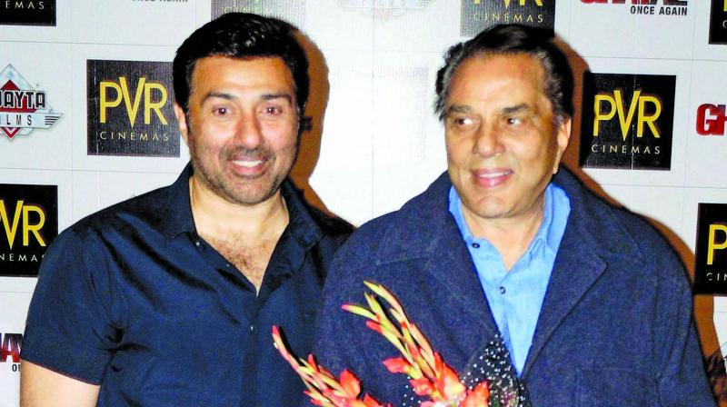 Sunny Deol and Dharmendra.