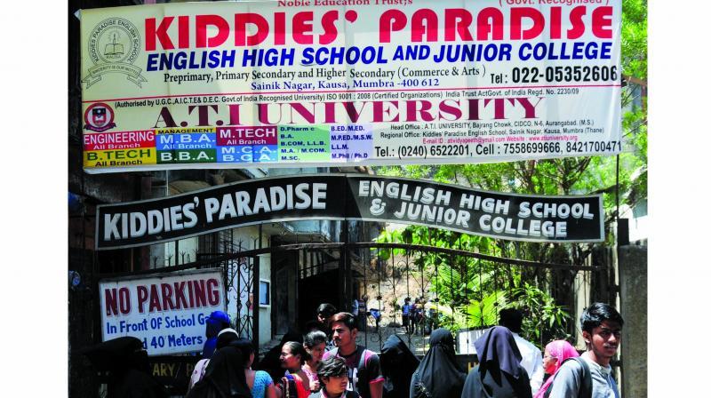 Mumbra-based Kiddies' Paradise High School.