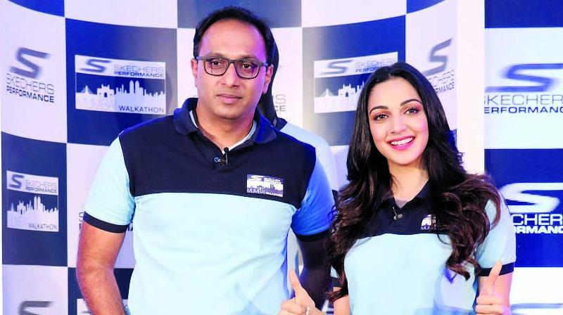 Rahul Vira, CEO of Skechers South Asia and Kiara Advani.