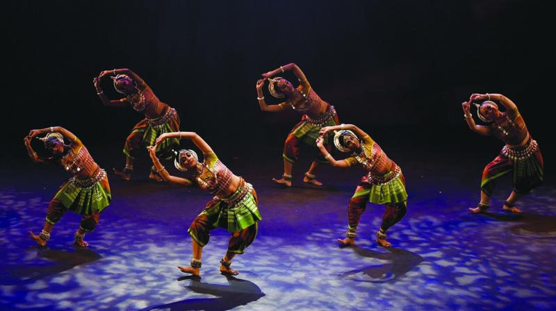 Ramli Ibrahim's Odissi on HIgh being performed in Kuala Lumpur. 	Courtesy: Sutra Foundation