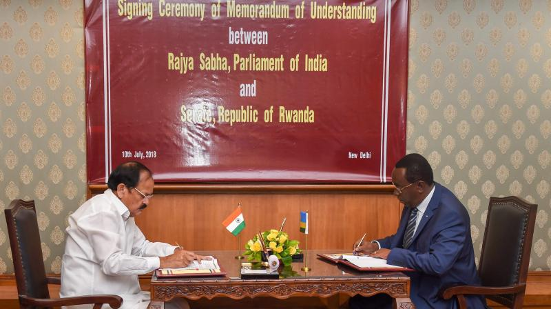 The MoU, with six articles of cooperation, seeks to promote inter-parliamentary dialogue, capacity building of the parliamentary staff, organisation of conferences, forums, seminars, staff-attachment programmes, workshops and exchanges. (Photo: PTI)