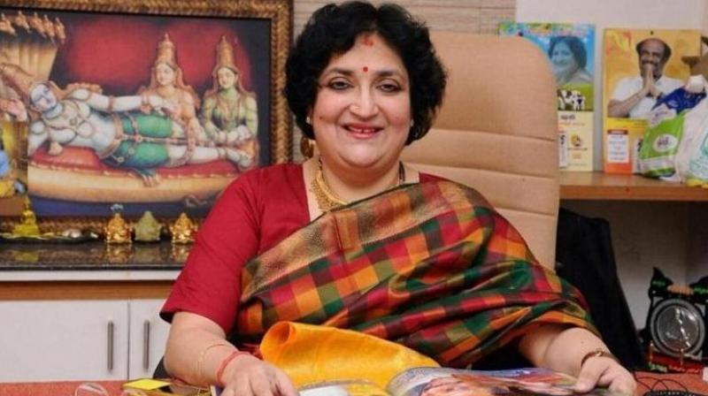 Last week, the Supreme Court pulled up Latha Rajinikanth for not honouring the undertaking given to the court to pay the dues of Rs 6.20 crores to Ad Bureau. (Photo: Latha Rajinikanth/Facebook)