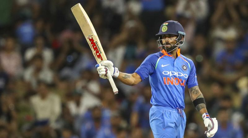 The Indians got off to a rocky start, losing openers Rohit Sharma and Shikhar Dhawan (21) early in the innings.  (Photo: PTI)