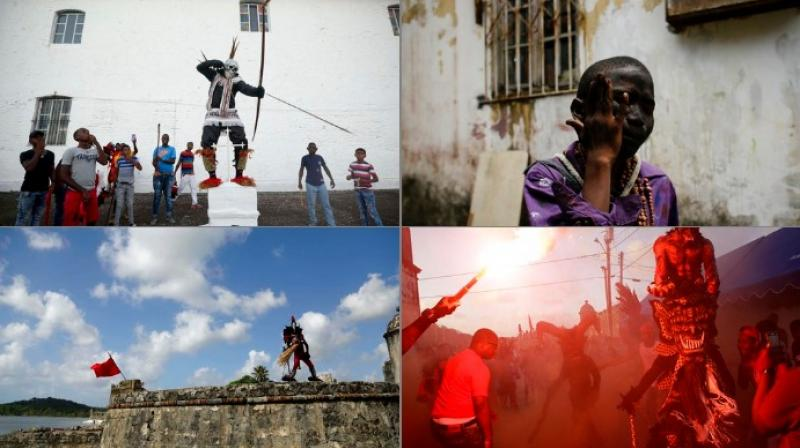 The Portobelo festival, a blend of Catholic and African beliefs, was established in 1999 by the community to preserve their culture in honor of their ancestors (Photo: AP)