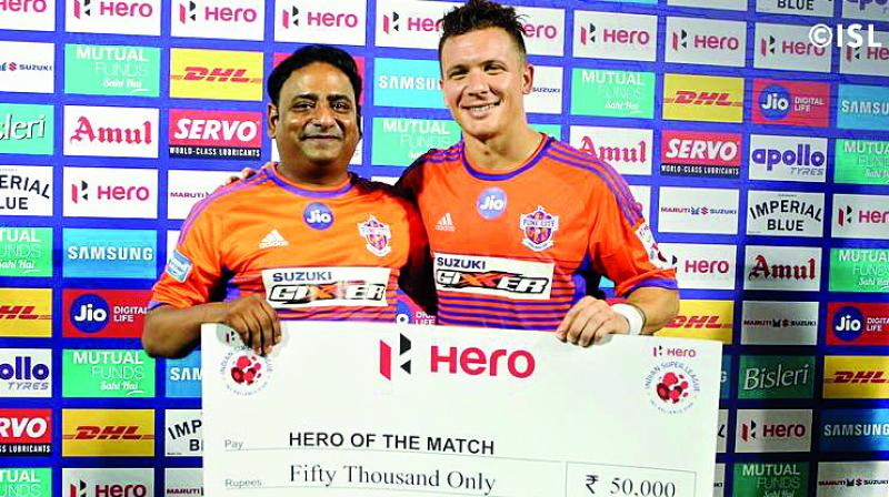 Another individual who stood out to make sure that Pune does not concede was Marko Stankovic, who was also the Man of the Match.