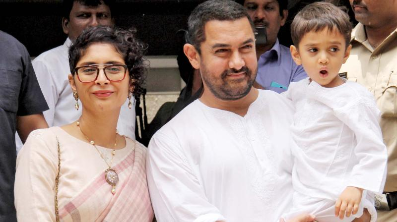 A Diwali bonanza, the film also stars Katrina Kaif and Fatima Sana Shaikh and has been directed by Vijay Krishan Acharya. However, this is the first time that Aamir Khan's son Azad has watched a film of his dad's.