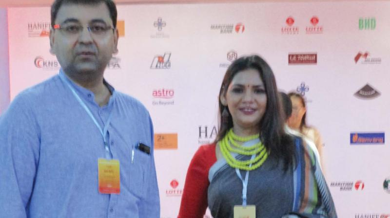 Director/actress of Indian film Pupa Indrasis Acharya, which was in competition.