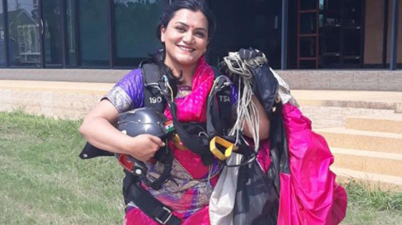 35-year-old Shital Mahajan, is an Indian extreme sportsperson and the holder of six world records. (Photo: ANI)