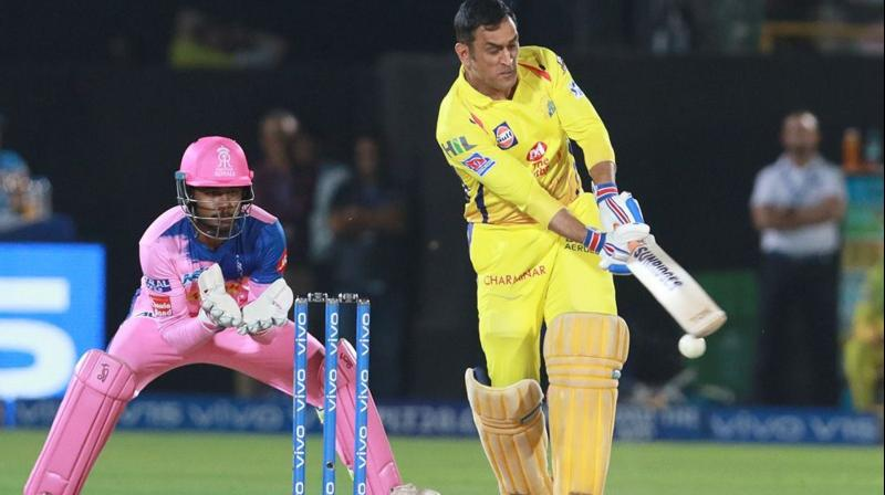 CSK skipper M S Dhoni missed the game against SRH due to a stiff back but will probably be fit for the game on Sunday. (Photo: BCCI)