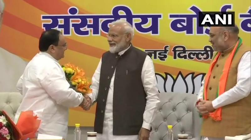 The first meeting was scheduled for June 25 but called off following the death of Rajasthan BJP president and Rajya Sabha member Madan Lal Saini. The BJP won an unprecedented 303 seats in the general election. (Photo: ANI)
