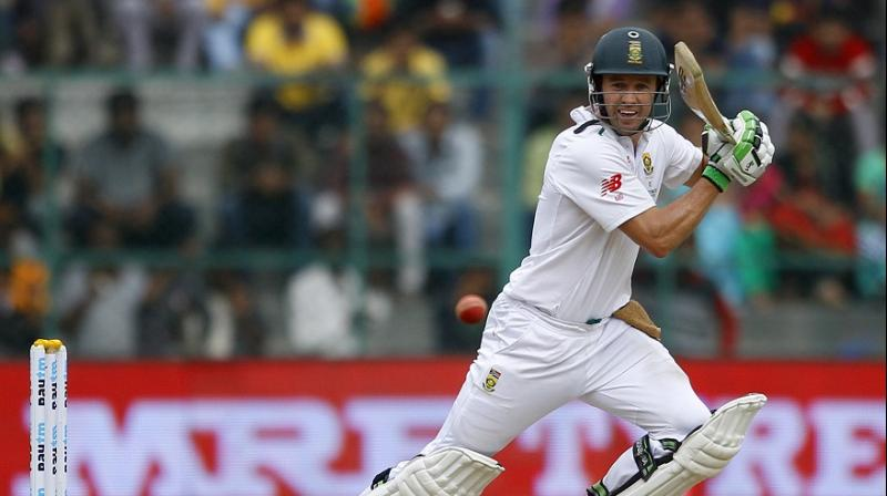 AB de Villiers is likely to play in a three-day warm-up game against Zimbabwe to make a comeback in the four-day day/night Test which is slated to begin from Boxing Day, here in Port Elizabeth. (Photo: AP)