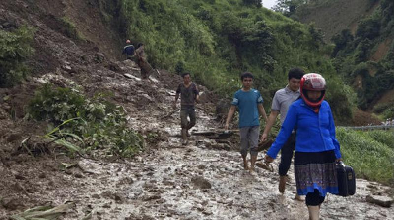 Heavy rain has disrupted travel in some areas, limiting the rescue attempts for the missing (Photo: AP Exchange)