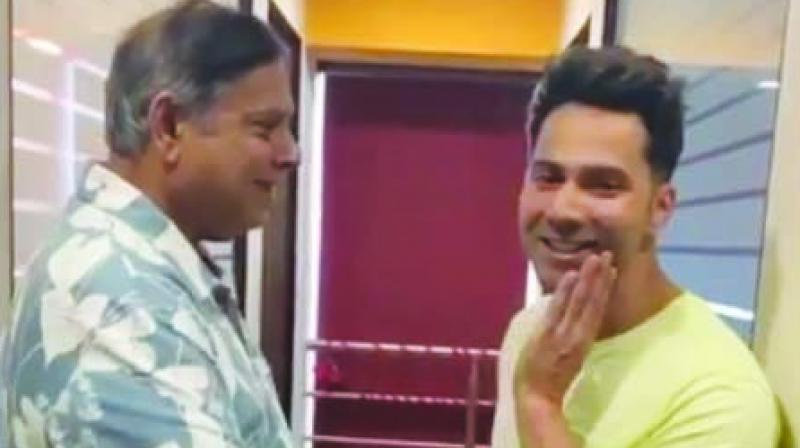 Celebrating Father's Day was Varun Dhawan, who took to Instagram to post a funny video with dad David.