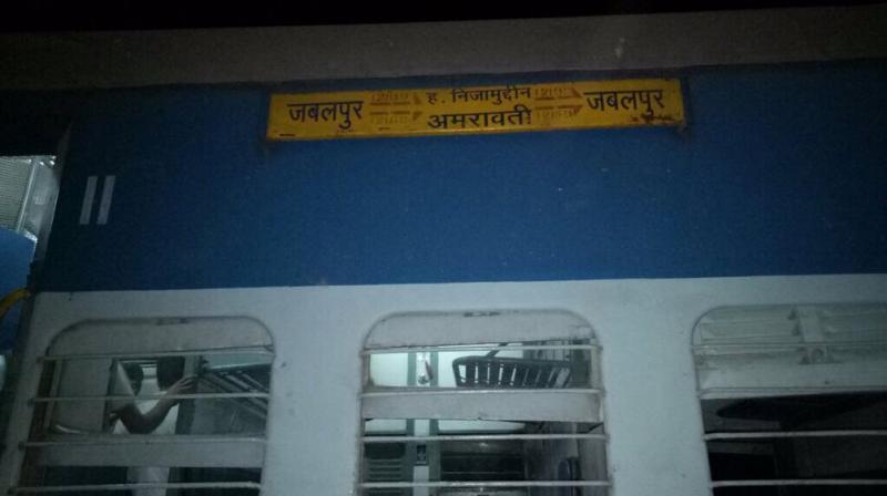 Eight coaches of Mahakaushal express derail near Kulapahar in Mahoba. (Photo: ANI)