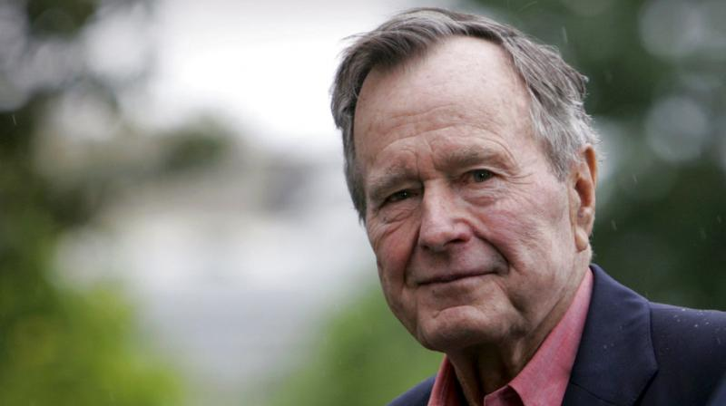 Former President George H W Bush dies at the age of 94 on Friday, November 30, 2018, about eight months after the death of his wife, Barbara Bush. (Photo: AP)